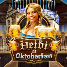 Heidi at the Oktoberfest logo logo