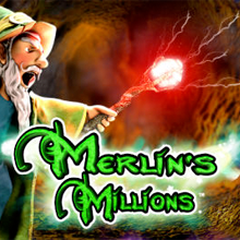 Merlin's Millions logo logo