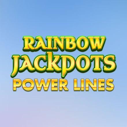 Rainbow Jackpots Powerlines logo logo