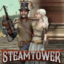 Steam Tower logo logo