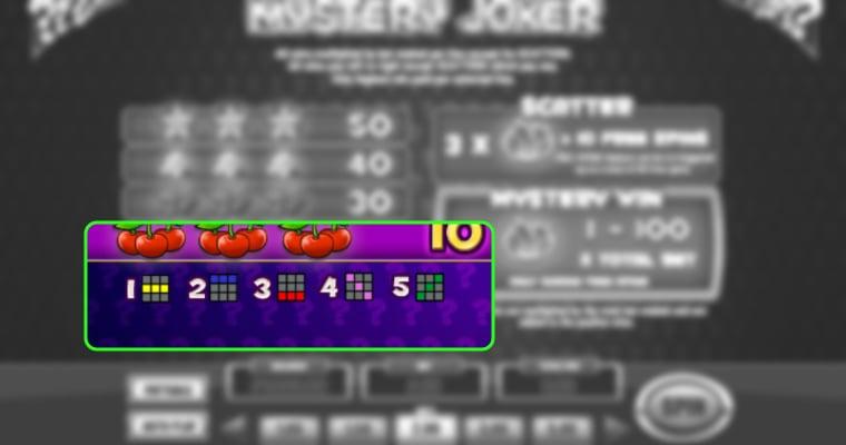 Winlijnen op Mystery Joker
