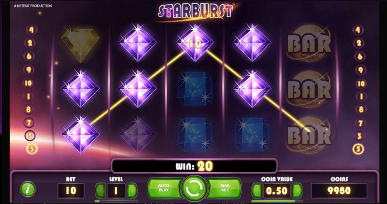 Uitbetalen op Starburst